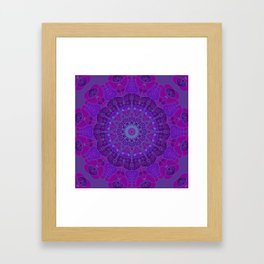 Mandala art drawing design purple fuchsia periwinkle Framed Art Print