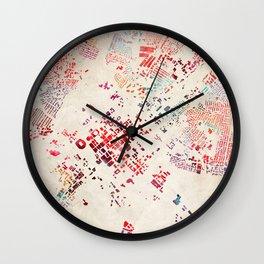 Charlotte map Wall Clock