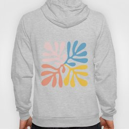 colorful contemporary abstract leaf cutoff inspired  Hoody