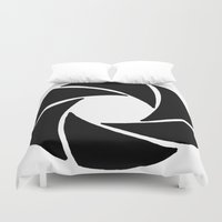 aperture Duvet Covers featuring Aperture by PlayWithFireDieInIce