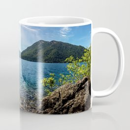 Lake Crescent Olympic Mountain Pano Coffee Mug