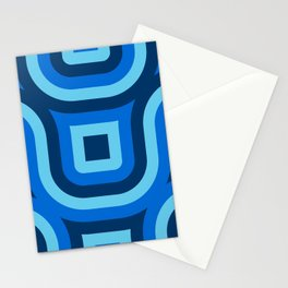 Blue Truchet Pattern Stationery Cards