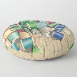 Cotton Reels Floor Pillow