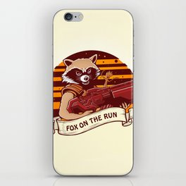 Rocket Raccoon / Fox on the Run iPhone Skin