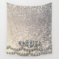 bisexual Wall Tapestries featuring Diamonds and sparkles I by Better HOME