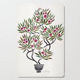 Bonsai Fruit Tree – Sage & Burgundy Palette Cutting Board