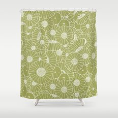 Floral Bunch Green Shower Curtain
