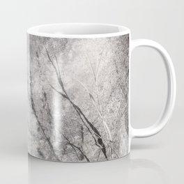Black and White Grass Shadows on Stone Coffee Mug