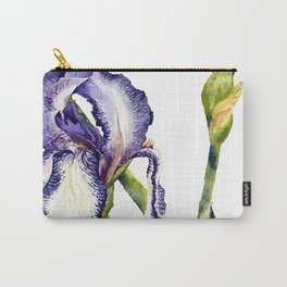 Violet Iris Carry-All Pouch