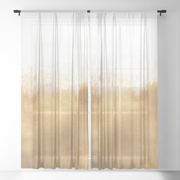 Brushed Gold Sheer Curtain