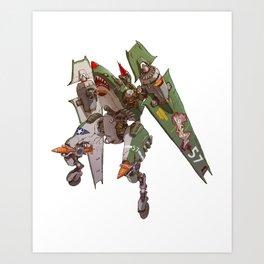 JetHead Warhawk (No Text) Art Print