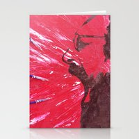 pain Stationery Cards featuring Pain by C-ARTon