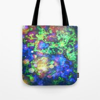 chaos Tote Bags featuring Chaos by ArtByRobin