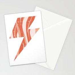 Bacon Lightning Bolt Keto Diet shocking Stationery Cards