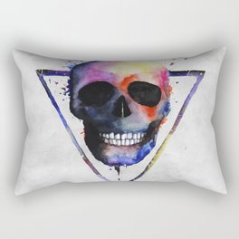 Watercolor Skull Rectangular Pillow