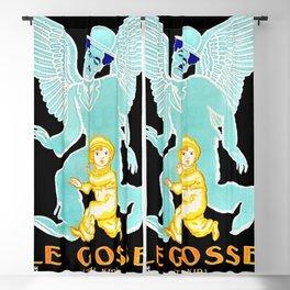"Vintage 1921 Charlie Chaplin Movie Poster ""Le Gosse (The Kid)"" by Jean Carlu Blackout Curtain"
