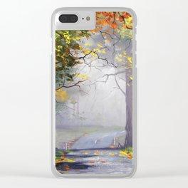 Misty Autumn Mt Wilson Clear iPhone Case