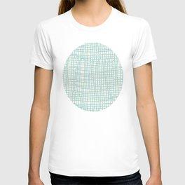 Blue Scribbles Pattern 06 T-shirt