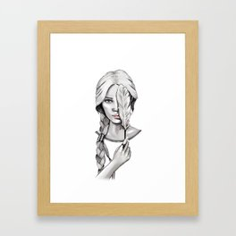 Feather Head Framed Art Print