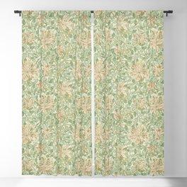 William Morris Vintage Honeysuckle Artichoke Plaster Pink Green Floral Blackout Curtain