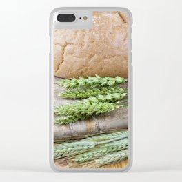 green wheat and rye Clear iPhone Case