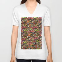brazil V-neck T-shirts featuring Brazil by India Panzid