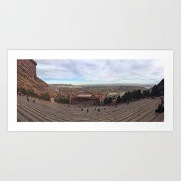 Red Rocks Amphitheatre Art Print