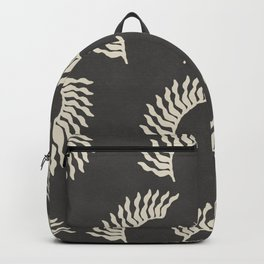 When the leaves become wings - Gray and beige Backpack