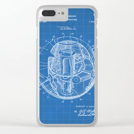 Space Satellite Patent - Outer Space Art - Blueprint Clear iPhone Case