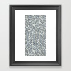 Freeform Arrows in navy Framed Art Print