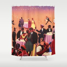 Barbecue by Archibald Motley Shower Curtain