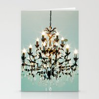chandelier Stationery Cards featuring Chandelier. by heather cherie