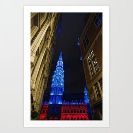 Christmas in Brussels Art Print