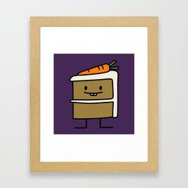 Happy Carrot Cake Framed Art Print