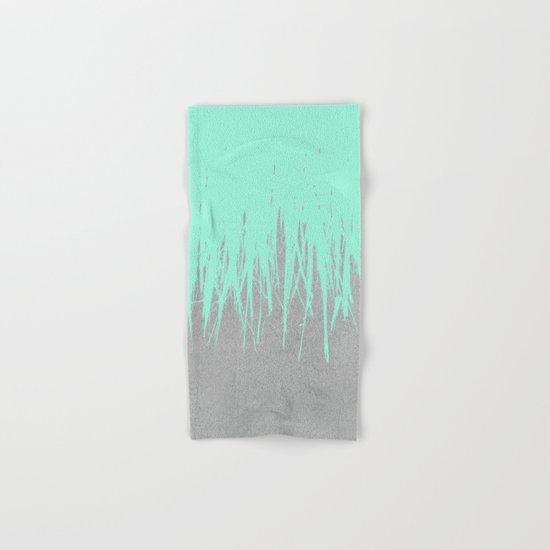Fringe Concrete Mint Hand & Bath Towel