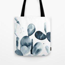 Indigo Paddle Cactus Tote Bag