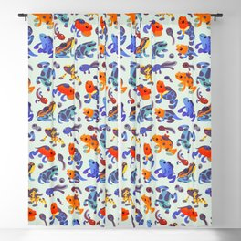 Poison dart frogs - bright Blackout Curtain