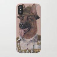 german iPhone & iPod Cases featuring German Shepherd by Rachel Waterman
