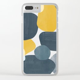 Abstract Mustard Shape Design Clear iPhone Case