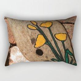Driftwood flowers Rectangular Pillow