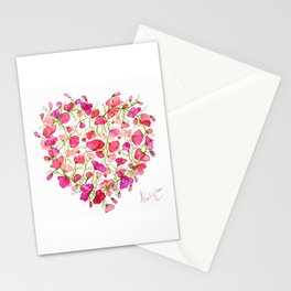 Heart themed- Sweet Pea Heart Stationery Cards