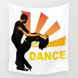 dancing couple silhouette - brazilian zouk Wall Tapestry