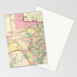 Vintage Map of Texas (1856) Stationery Cards