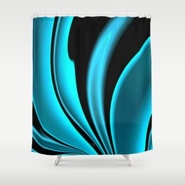 Abstract Fractal Colorways 02 Pacific Blue Shower Curtain
