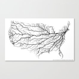 Highways of America Canvas Print