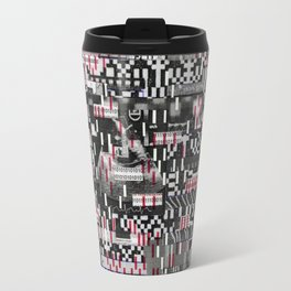 Comfortable Ambiguity (P/D3 Glitch Collage Studies) Travel Mug
