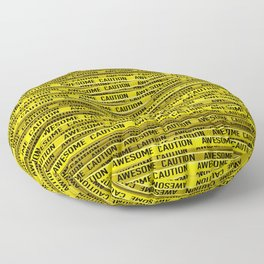 AWESOME, use caution / 3D render of awesome warning tape Floor Pillow