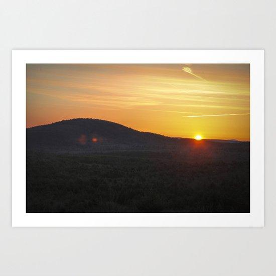Easter's Sunrise Over Mount Grace Art Print