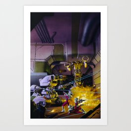 Robot Wars Art Print