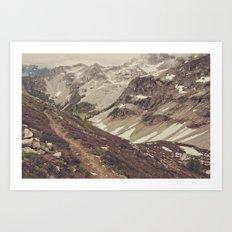 Mountain Trail Art Print
